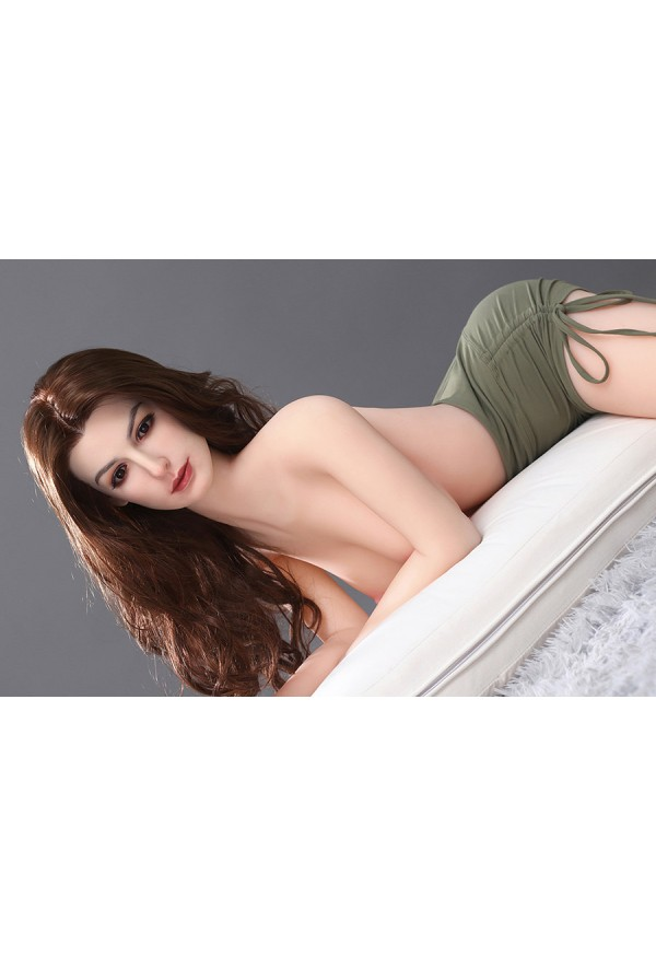 anny 165cm c cup silicone head and tpe body celebrity sex doll