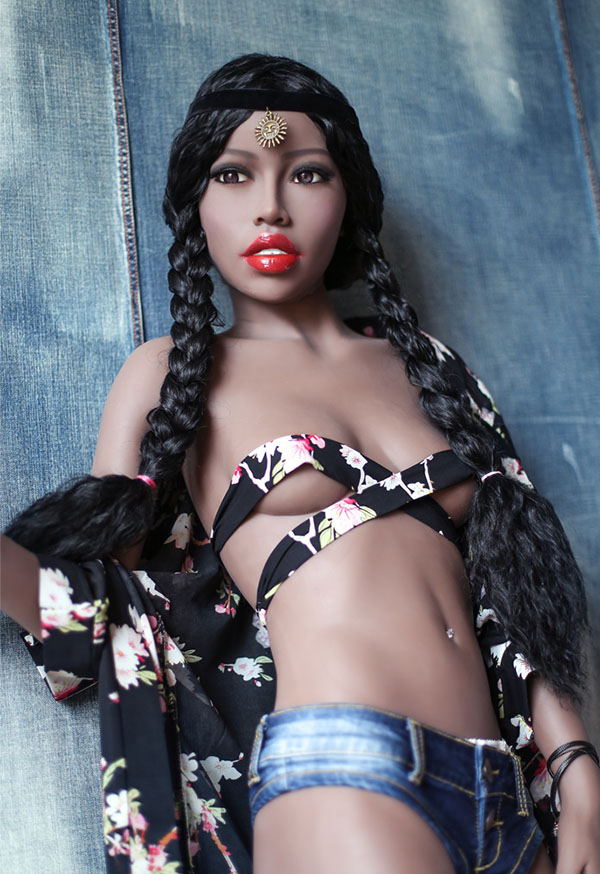 farasha 168cm b cup small breast black sex doll