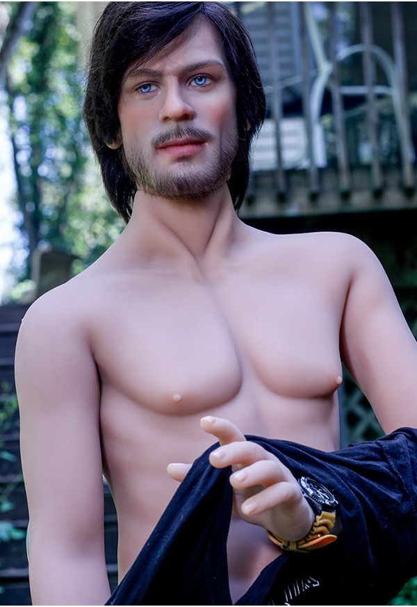 jonathon 167cm male sex doll with silicone head and tpe body