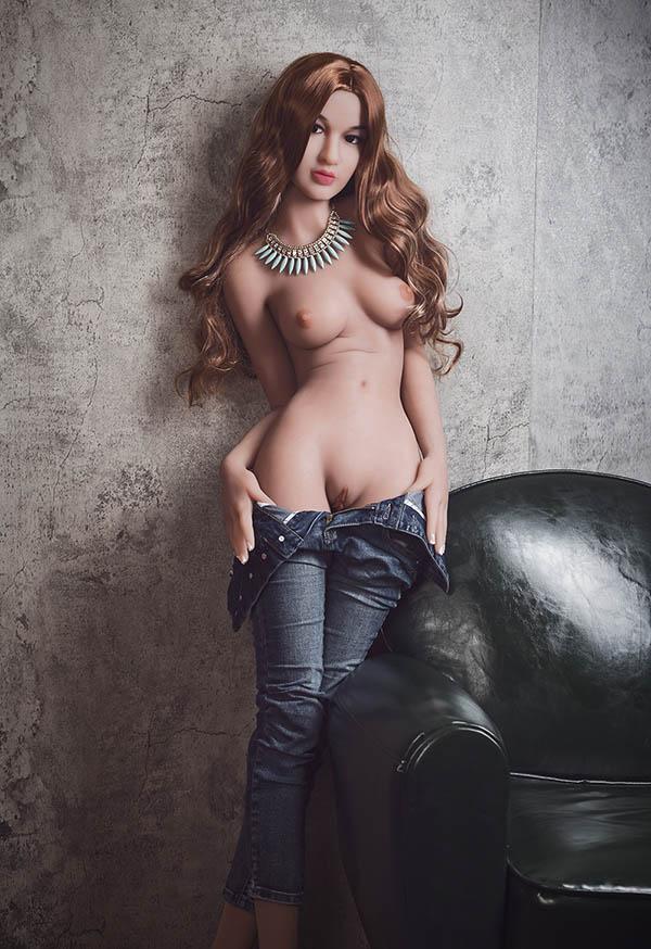 Sierra 157cm B cup Curly Hair Blonde Sex Dolls