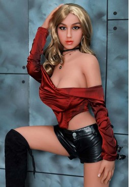 Auburn 158cm D Cup Blonde Fitness Model Sex Doll