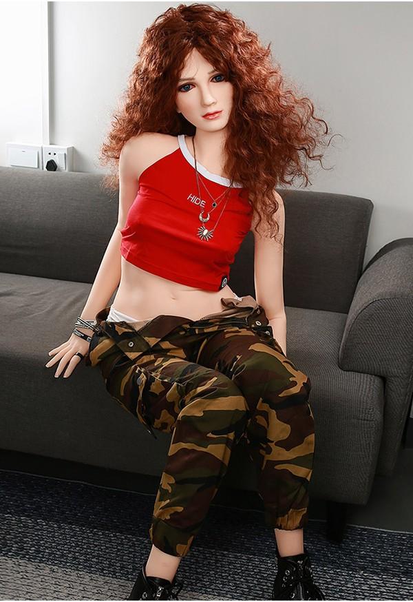 salvia 160cm a cup slim body red head sex doll