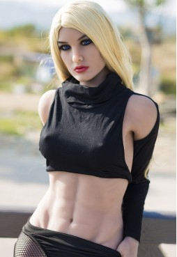 Stoya 164cm B Cup Blonde Fitness Sex Doll