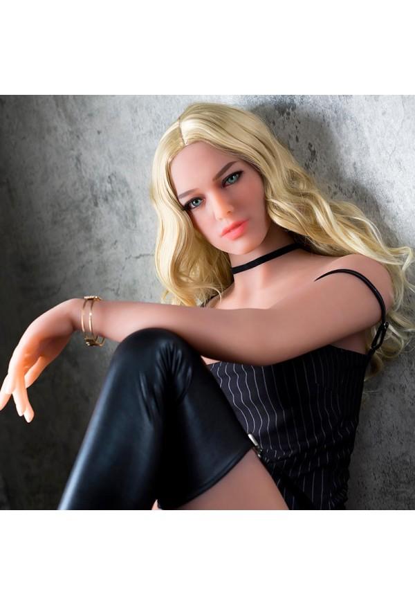 cleta 166cm c cup blonde curly hair custom sex doll