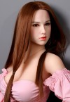 emily 158cm c cup busty sex doll with silicone head and tpe body