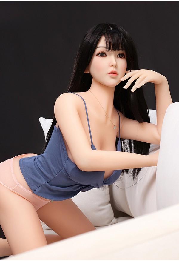 murasaki 158cm c cup silicone head with tpe body asian sex doll
